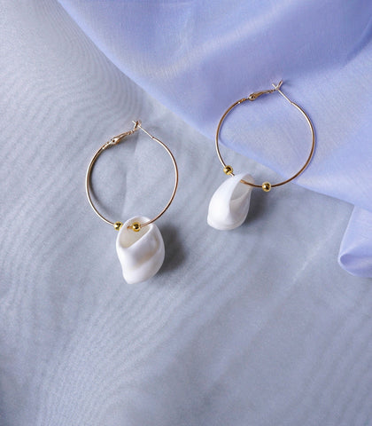 Earrings - Sashi Shell Hoop Earrings
