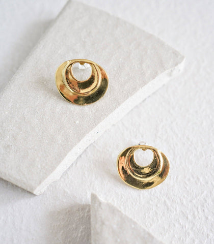 Earrings - Singa Round Cut-Out Earrings