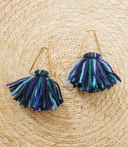 Earrings - Sol Ombre Earrings (Berry Blues)