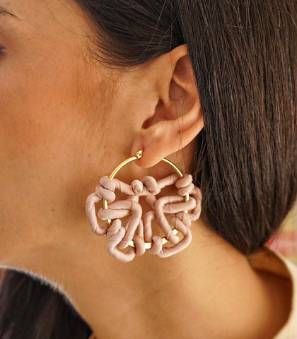 Earrings - Tara Earrings- Blush Beige
