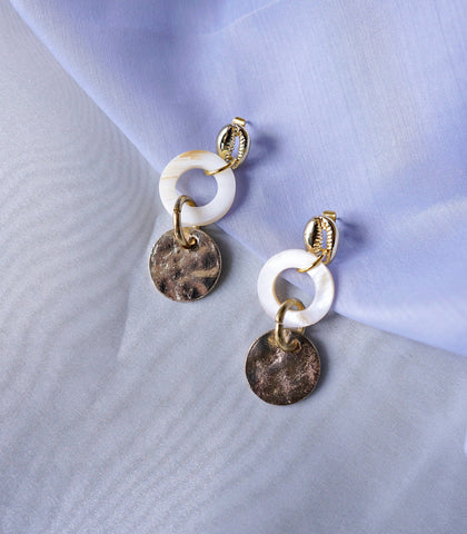 Earrings - Tisbury Shell Drop Earrings