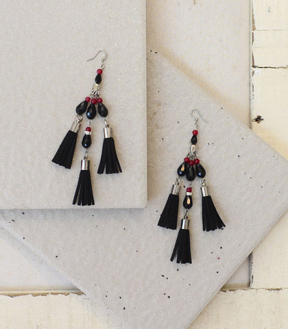 Earrings - Tuzno Fringe Earrings