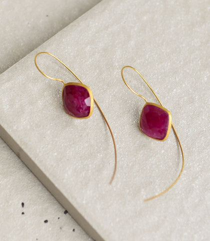 Earrings - Ziva Ruby Earrings