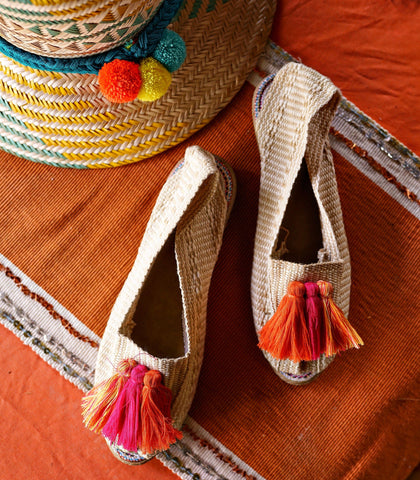 Espadrilles - Vera Alpargatas (Orange, Pink & Yellow Mix Tassel Espadrilles)