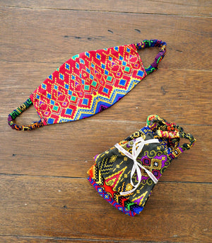 Assorted Malong Print Face Mask (Set of 3)