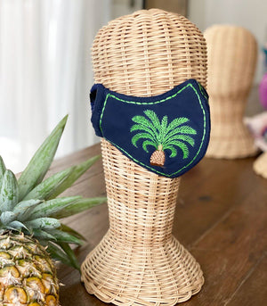 Intricado Embroidered Face Mask (Palm Tree)