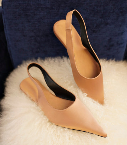 Flats - Esme Pointed Toe Flats (Satin - 2 Variants)