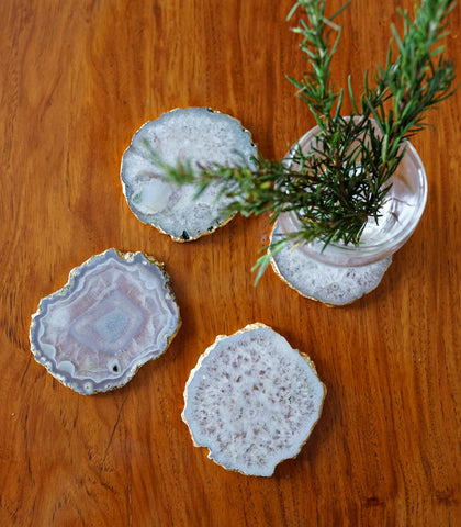 Glass Coasters - Agate Coasters - Irregular Shaped