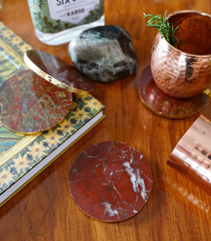 Glass Coasters - Agate Coasters - Round