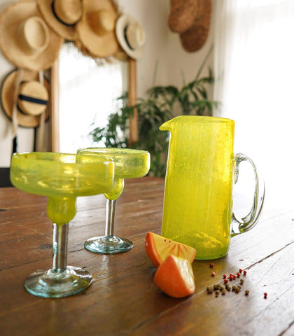 Glassware - Pismo Margarita Glassware And Pitcher Set