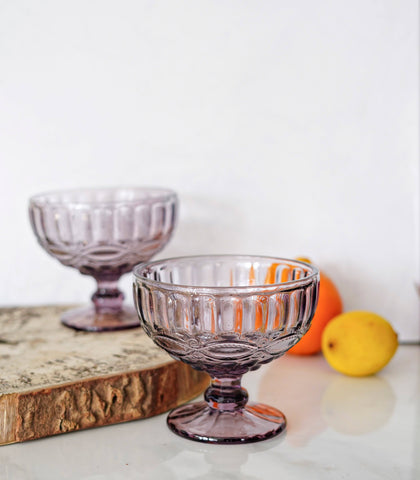 Glassware - Vino Embossed Ice Cream Cup -Set Of 4 (340 Ml)