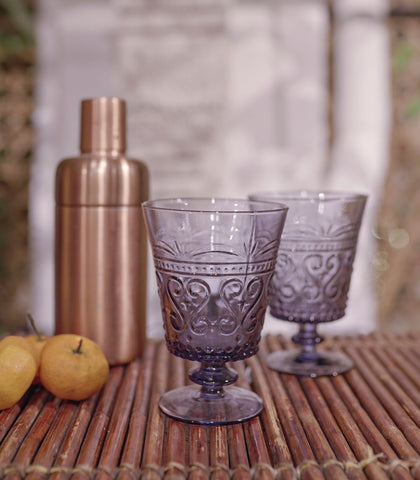 Glassware - Ya Amar Short Stem Goblet - Set Of 2