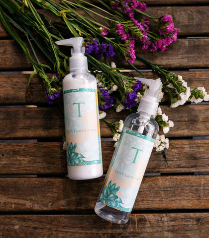 Hand Soap - Monogrammed Olive Hand Soap And Hand Lotion- Set Of 2