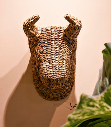Handmade Decor - Bullhead Rattan Wall Decor