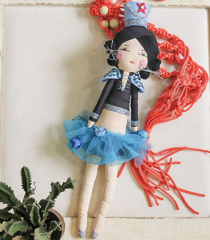 Handmade Decor - Charlie The Circus Master Handmade Art Doll