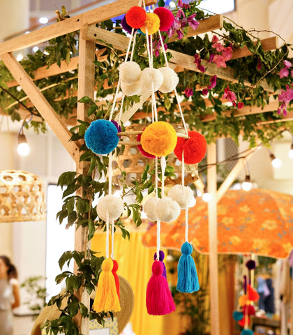 Handmade Decor - Pompom And Tassel Mobile
