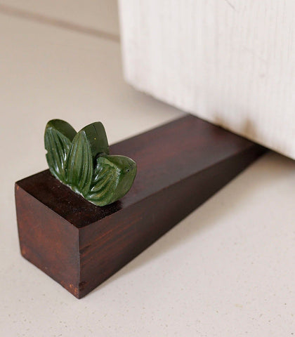 Handmade Decor - Tropical Leaf Door Stopper