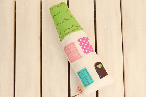 Handmade Toy - Green Handmade Plush Doll House