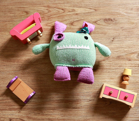 Handmade Toy - Penny Hand Knit Monster