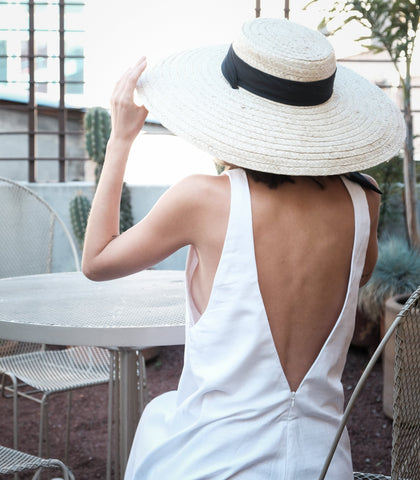 Hat - Dolores Wide Brim Straw Hat