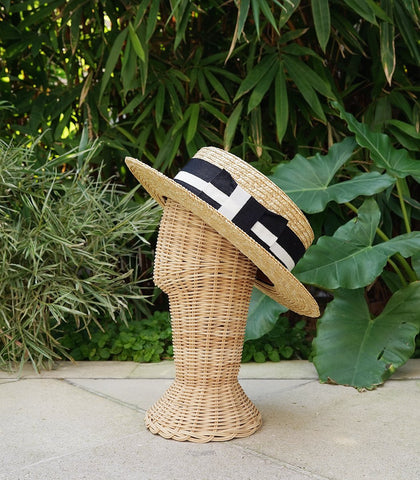 Rosario Straw Boater Hat