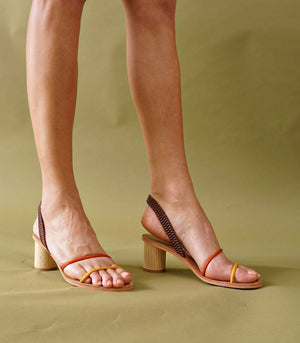 Herstal 2-Way Strappy Heels (Sunset)