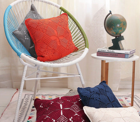Home - Adelle Crocheted Throw Pillow Covers