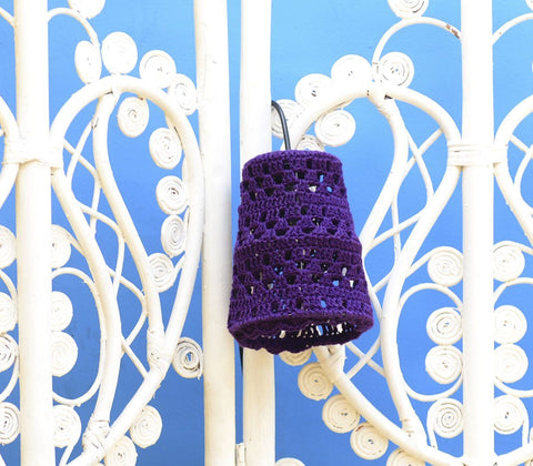 Home - Adelle Hand Crocheted Single Pendant Lamps