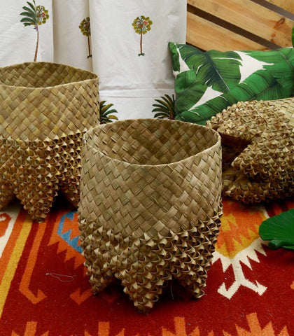 Home - King Sebastian Pandan Baskets - 2 Sizes