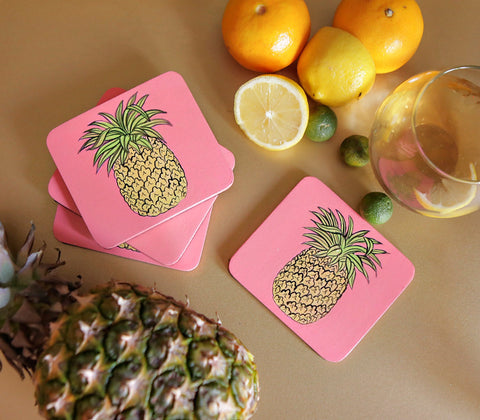 Home - Pineapple Wooden Coasters ( Set Of 4 )