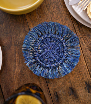 Hot Plates - Abja Abaca Fringe Coasters - Set Of 4
