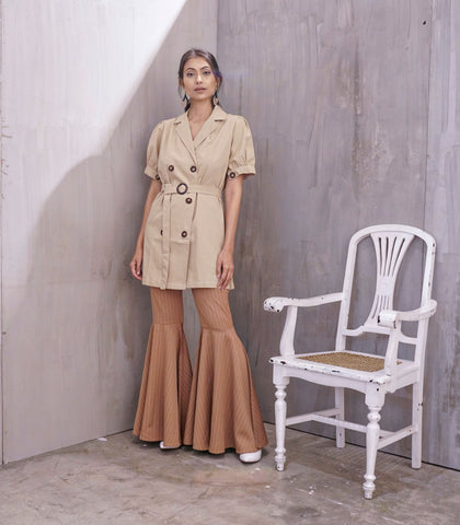 Jacket - Haldia Trench Dress (Beige)