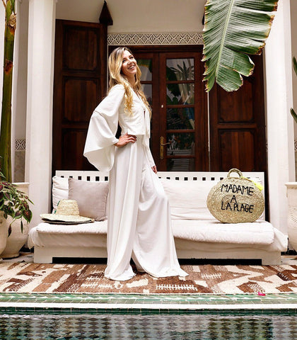 Jumpsuit - Boudir White Wide-leg Jumpsuit