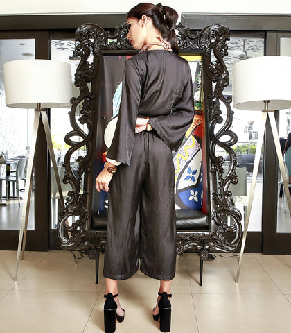 Jumpsuit - Ludlow Black Cropped Jumpsuit