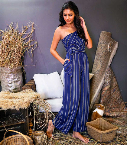 Jumpsuit - Valgrana One-Shoulder Jumpsuit