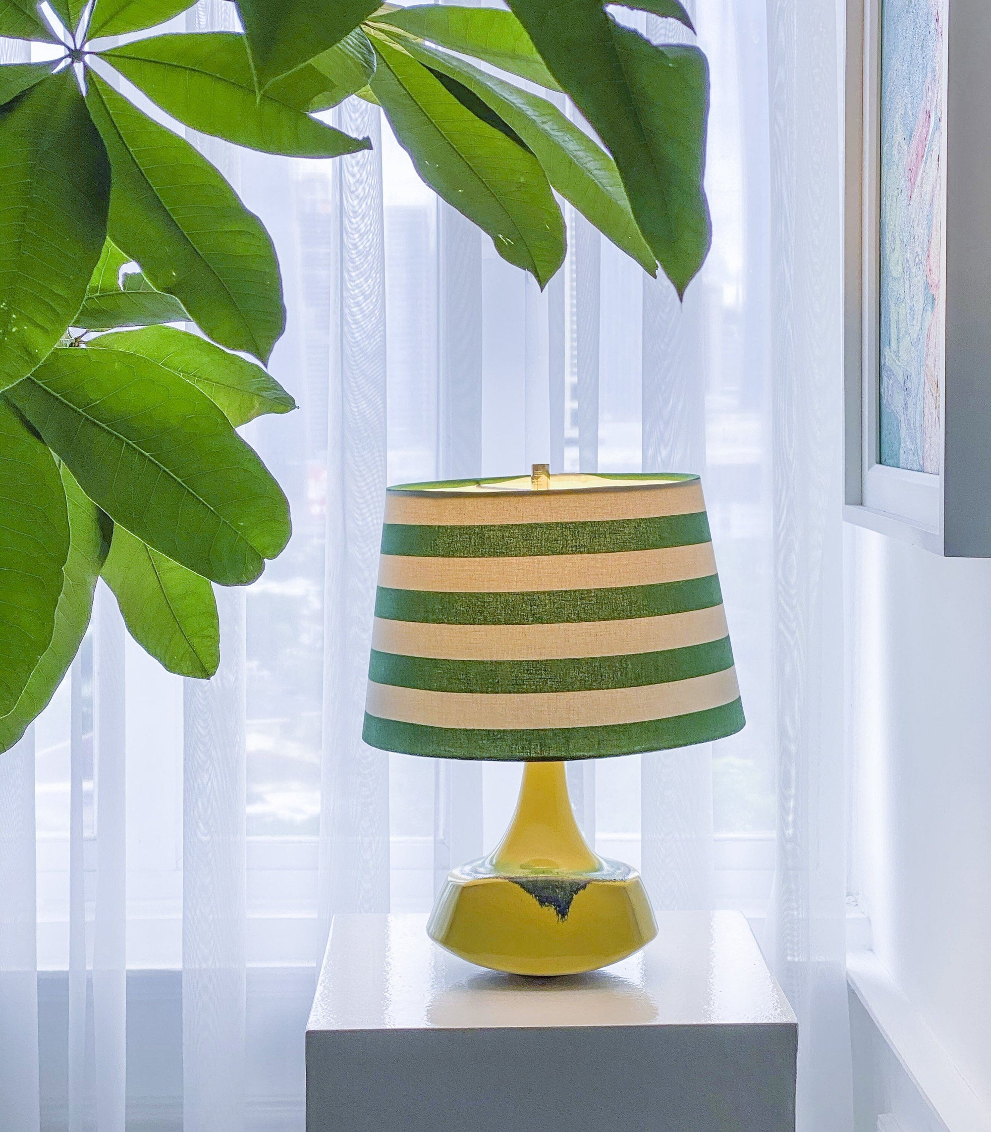 Lamp - Solano Green Stripes Table Lamp