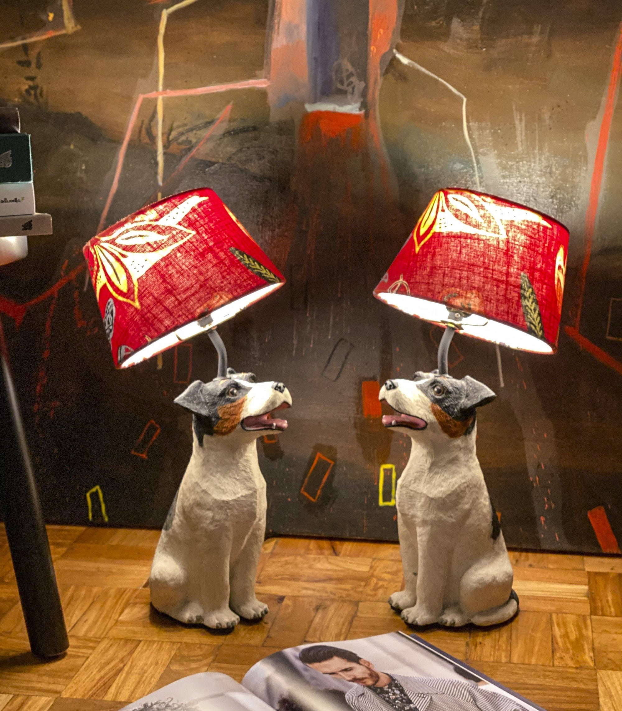 Lamp - Solano Pair Of Resin Dogs Table Lamp