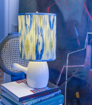 Lamp - Solano White Kettle Ikat Lamp