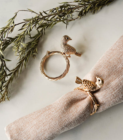 Napkin Rings - Sandrine Napkin Ring- Set Of 4