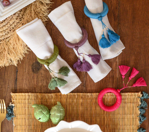 Napkin Rings - Syari Napkin Rings Set Of 4