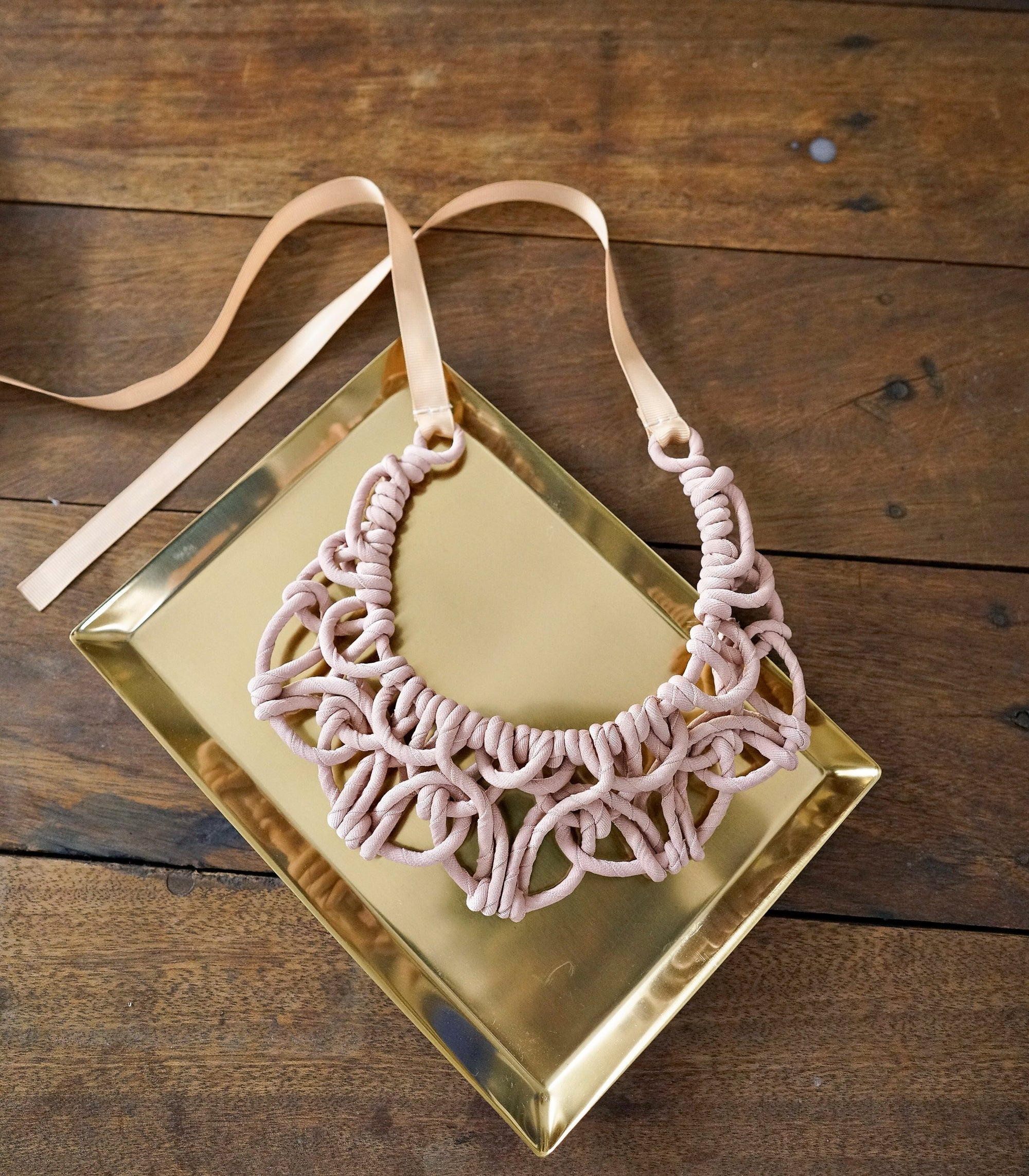 Necklace - Alexis Bib-Nude Blush