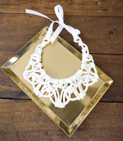 Necklace - Alexis Bib-White