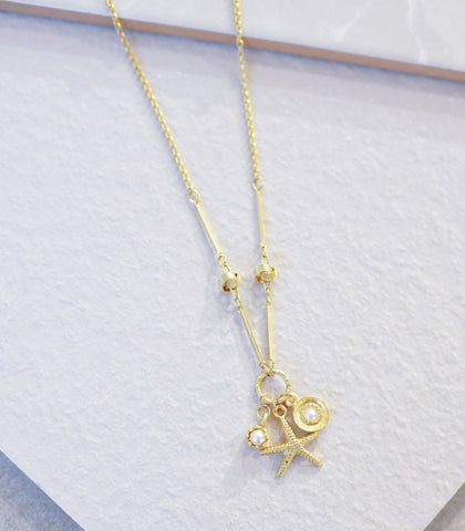 Necklace - Heyjow Pea Starfish Necklace