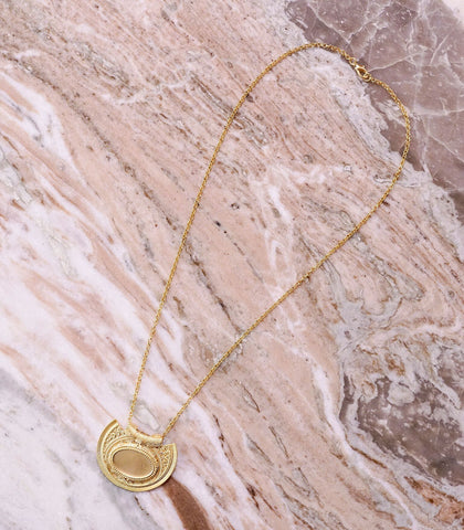 Necklace - Jazan Gold Plate Necklace