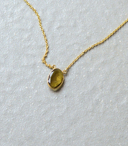 Necklace - Leilah Yellow Tourmaline Neklace
