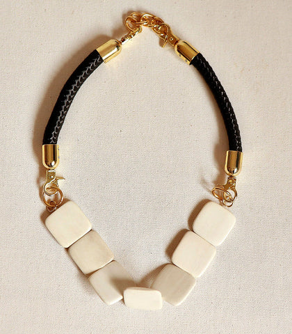 Necklace - Obasi Rope And Wood Necklace