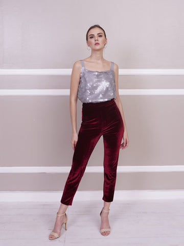Pants - Jill Lao Sheena Slim Velvet Trouser
