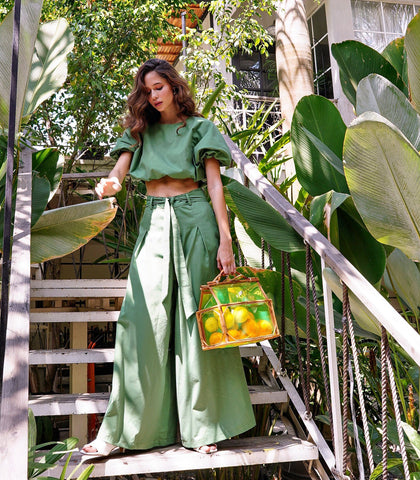 Pants - Kethra Wide Leg Pants (Pine)