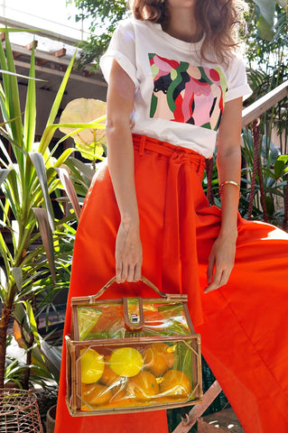 Pants - Kethra Wide Leg Pants (Tangerine)