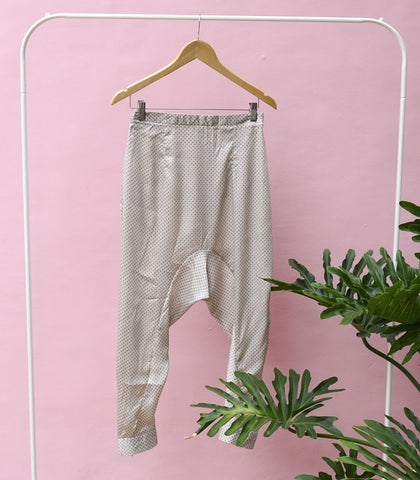 Pants - Sample 159| Printed Drop-Crotch Pants